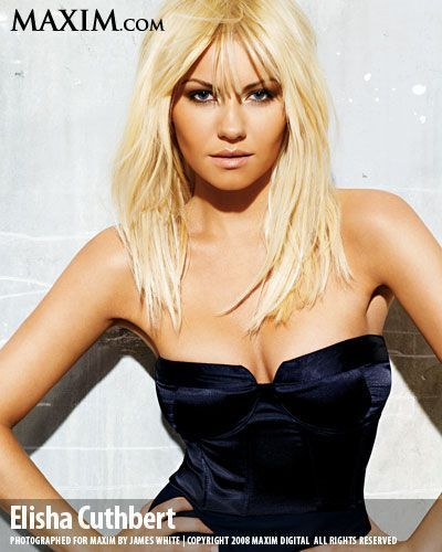 Elisha Cuthbert پیپر وال containing a bustier, a کاک, کاکٹیل dress, and a رات کے کھانے, شام کا کھانا dress entitled Elisha in Maxim