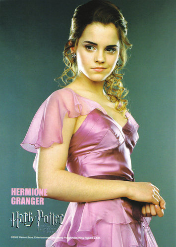 Hermione Granger wallpaper with a cocktail dress and a tonaca, frock titled Goblet of fuoco