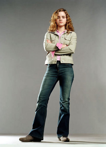 Hermione Granger wolpeyper with a jean and bellbottom trousers called Goblet of apoy