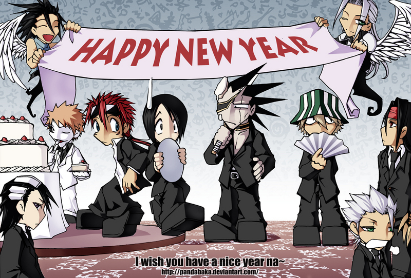 bleach anime images happy new year hd wallpaper and background photos