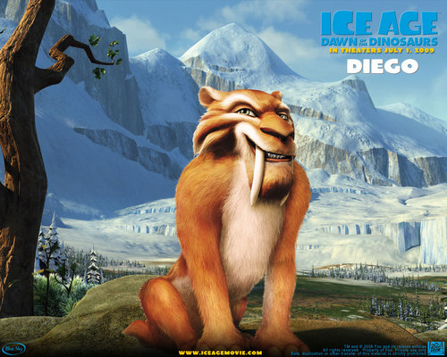 Filem kertas dinding titled Ice Age 3: Dawn Of The Dinosaur