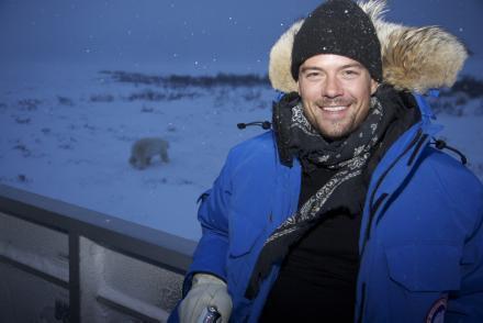 Josh visits polar bears - josh-duhamel photo