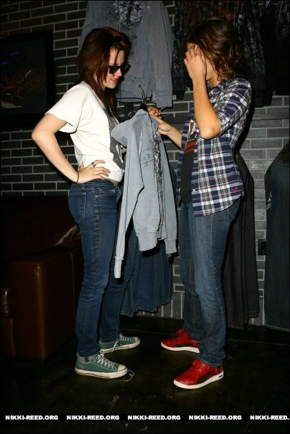 Kristen and Nikki in Affliction Store