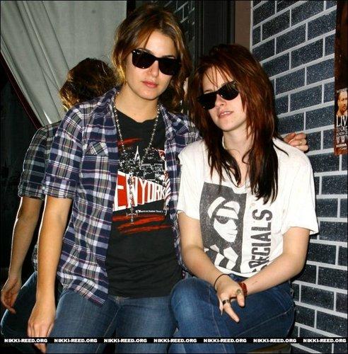 Kristen and Nikki in Affliction Store