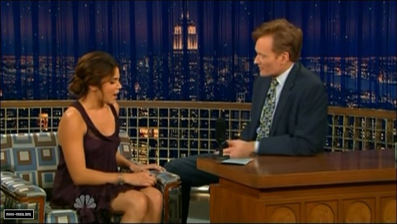 late night with conan o brien nikki reed image 3311024. Black Bedroom Furniture Sets. Home Design Ideas