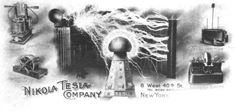 Letterhead of Tesla's Business Stationary