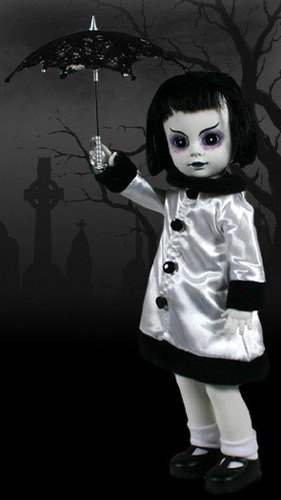 Living Dead Puppen Hintergrund possibly with a parasol titled Lottie- Series 3