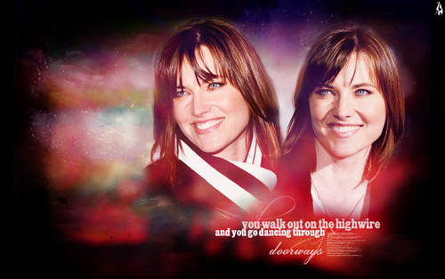 Lucy Lawless wallpaper containing a portrait titled Lucy