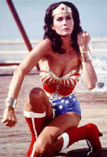 Wonder Woman wallpaper probably containing a swimsuit and a bikini entitled Lynda Carter