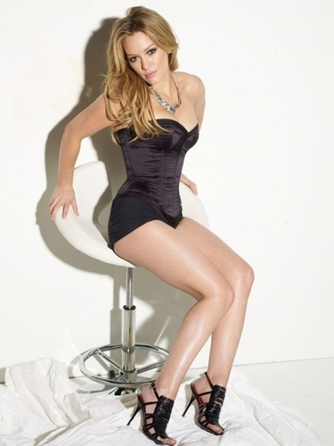 Hilary Duff fond d'écran containing tights and a leotard titled Maxim Outtakes