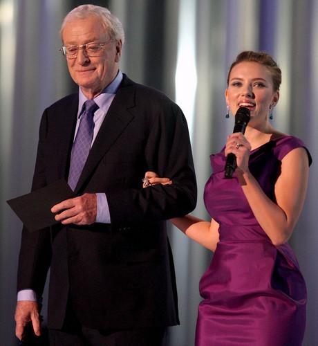 Michael Caine and Scarlett Johansson 2008