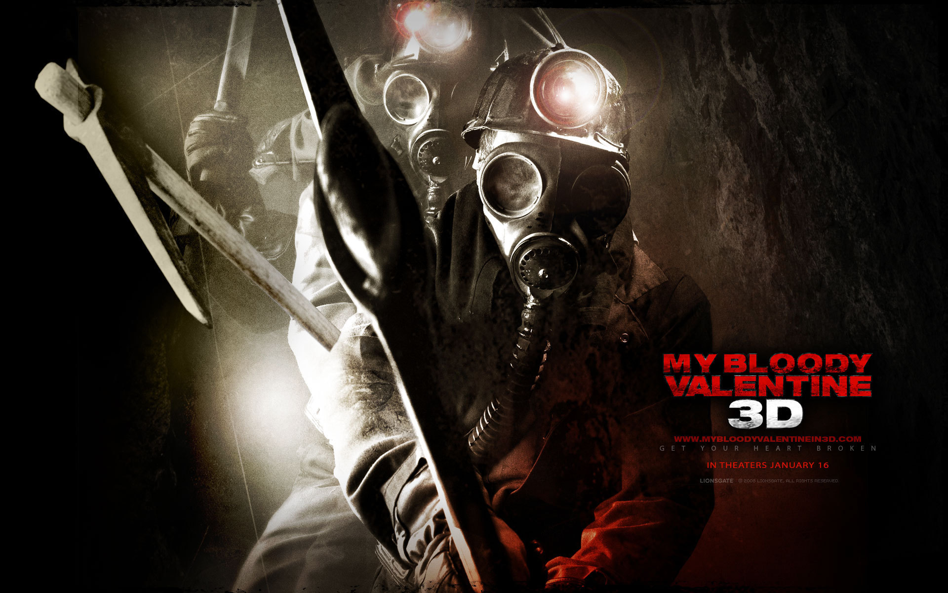 My Bloody Valentine 3D wallpapers - Horror Movies 1920x1200
