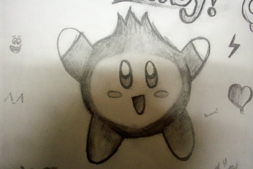 My lil doodle of DK Kirby