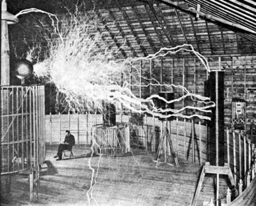 Nikola Tesla in his Lab - nikola-tesla Photo