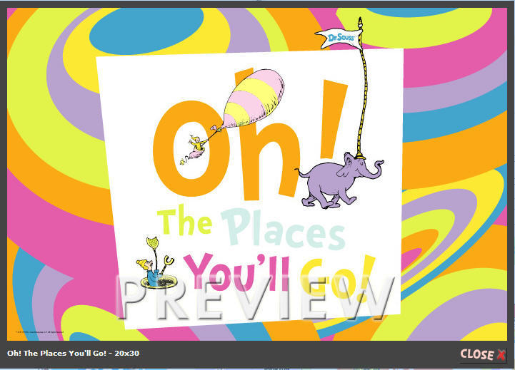 Oh The Places You'll Go Poster - Dr. Seuss Photo (3389461) - Fanpop