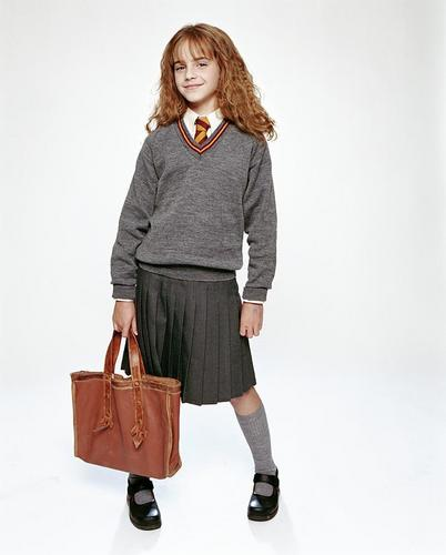 Hermione Granger wallpaper possibly with a well dressed person, an outerwear, and a hip boot titled Philosopher's Stone