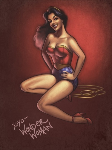 Wonder Woman wallpaper titled Pin Up