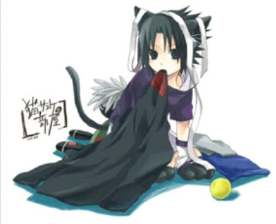 anjing, anak anjing Sasuke