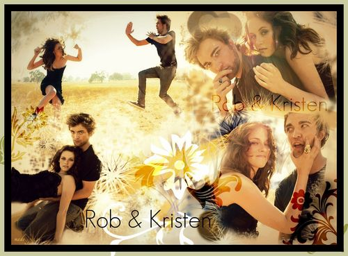 Twilight Series wallpaper possibly containing anime entitled Rob & Kristen