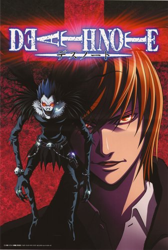 Death Note karatasi la kupamba ukuta containing anime called Ryuk & Light