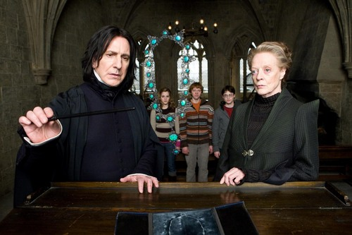 Snape and McGonagall With ہار