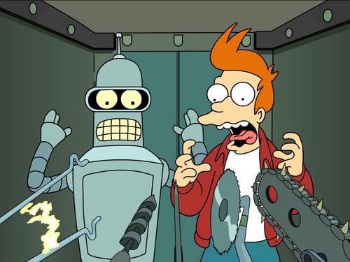 Futurama wallpaper containing anime titled Suicide Booth