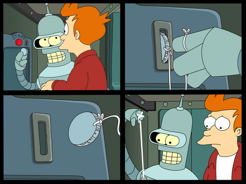 Futurama wallpaper containing anime entitled Suicide Booth