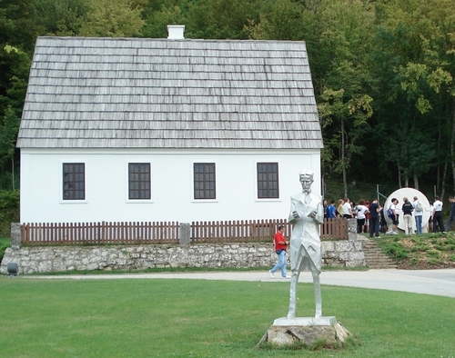 Tesla Birth House and Memorial Statue