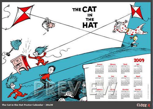 The Cat In The Hat Calendar 2009