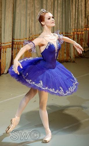 Ballet wallpaper with a cocktail dress titled Ulyana Lopatkina