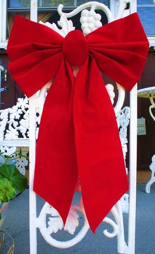 a 크리스마스 bow