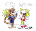 oh no what did lighting duchess do to my Manic's hair o.0 - manic-the-hedgehog fan art