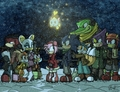 sonamy christmas - sonic-christmas fan art