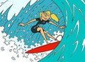 surfing bridgette - tdi-gwen-and-bridgette photo