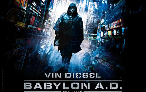 Vin Diesel fond d'écran probably with a rue and a sign called Babalyon AD