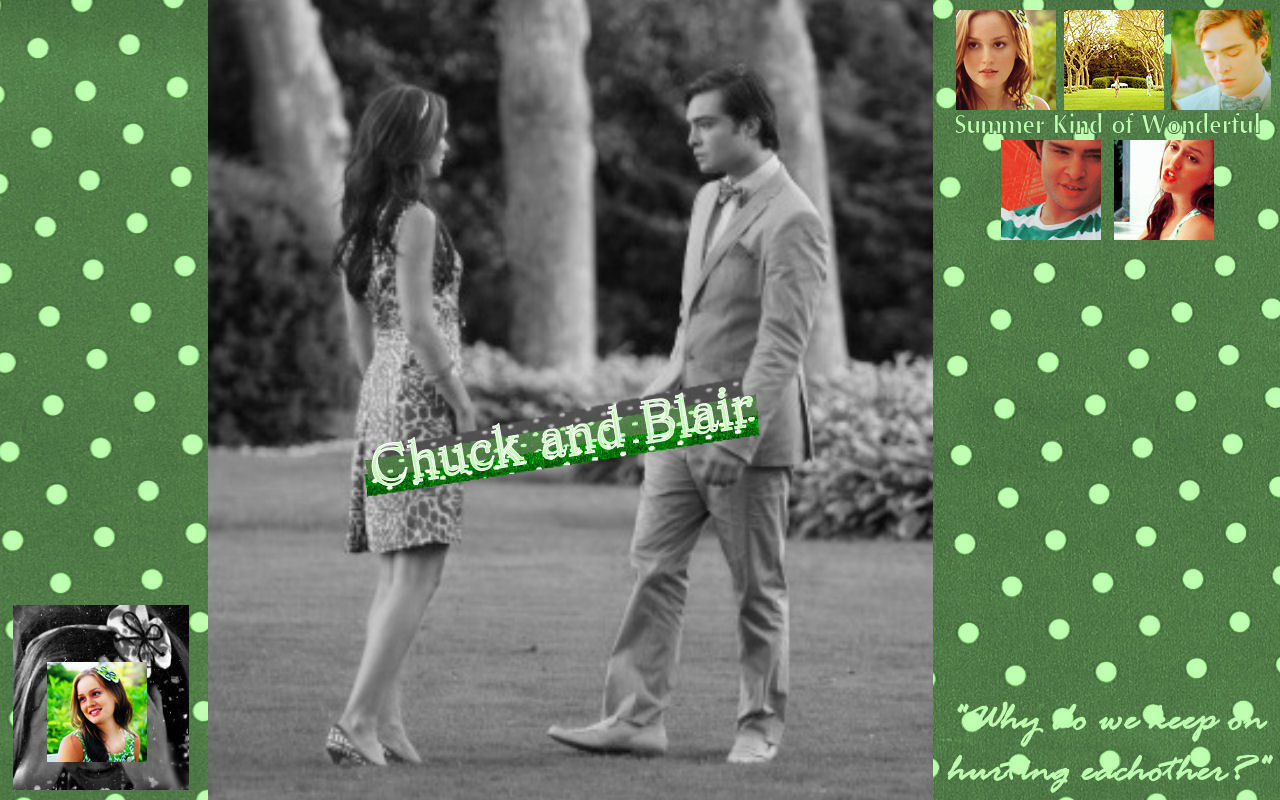Blair and Chuck- King and Queen WALLPAPER