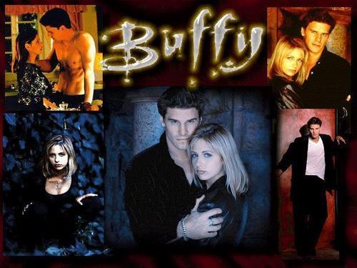 buffy, a caça-vampiros wallpaper titled Buffy and angel