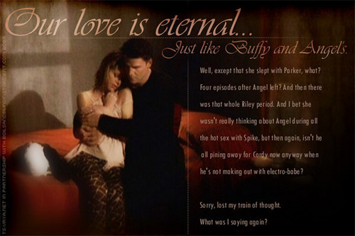 Buffy and Angel's love is eternal...or is it?