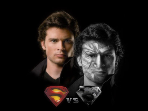 Clark and Bizarro - smallville Wallpaper