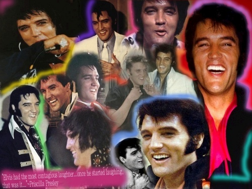 Elvis Presley wallpaper possibly with a portrait entitled Elvis Laughing