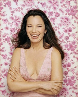 Fran Drescher karatasi la kupamba ukuta possibly with skin and a portrait titled Fran