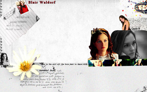 Gossip Girl fonds d'écran (Blair and Chuck + Blair)