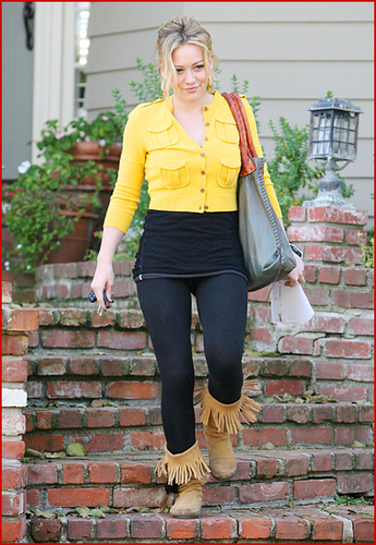 Hilary Duff with Ugly Outfit