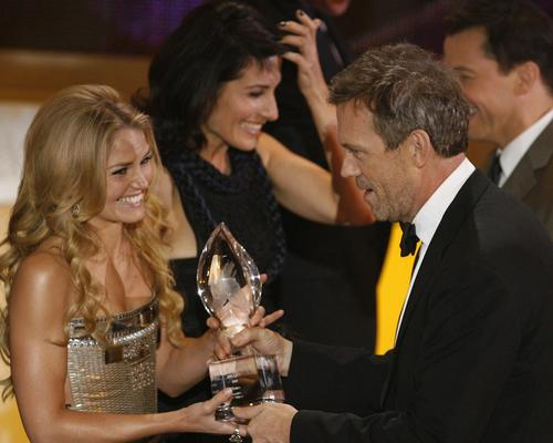 Hugh Laurie & Jennifer Morrison at the 35th Annual People's Choice Awards