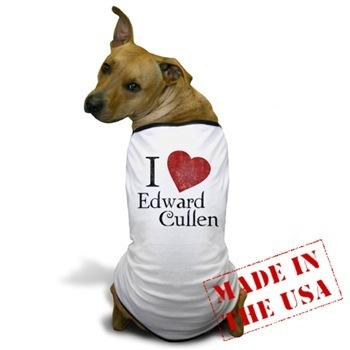 I প্রণয় Edward Cullen Dog T-Shirt