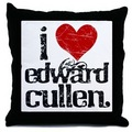 I Love Edward Cullen Throw Pillow - twilight-series photo