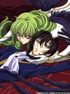 Code Geass karatasi la kupamba ukuta probably containing anime titled Lelouche & C.C