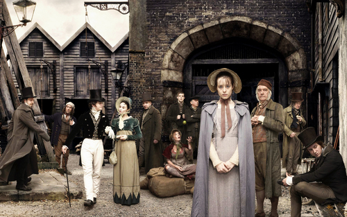 Little Dorrit wallpaper probably with a street and a business suit called LittleDorritPrison2widescreen