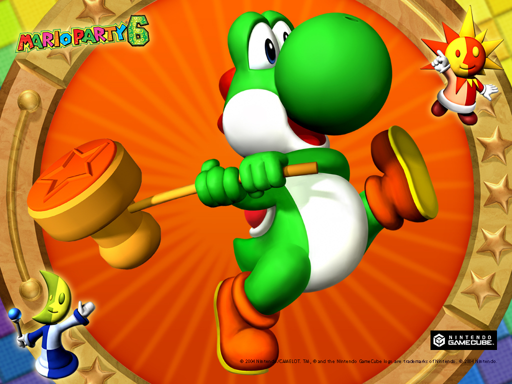 Mario Party 6 Yoshi Wallpaper