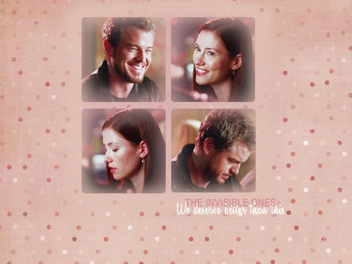 Grey's Anatomy پیپر وال probably containing a portrait titled Mark & Lexie